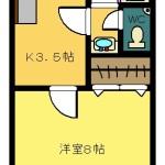 賃貸アパート トヤマハイツⅠ 203
